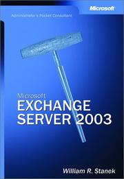 Cover of: Microsoft Exchange Server 2003 Administrator's Pocket Consultant
