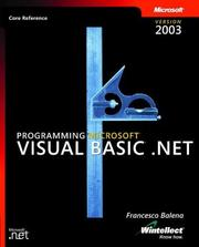 Cover of: Programming Microsoft Visual Basic .NET version 2003