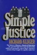 Cover of: Simple justice