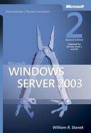 Cover of: Microsoft  Windows Server(TM) 2003 Administrator's Pocket Consultant