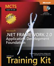 Cover of: MCTS Self-Paced Training Kit (Exam 70-536) | Tony Northrup