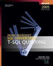 Cover of: Inside Microsoft SQL Server 2005 | Itzik Ben-Gan