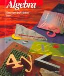 Cover of: Algebra Structure and Method Book 1 | Richard G. Brown