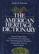 Cover of: The American Heritage College Dictionary | Editors of The American Heritage Dictionaries