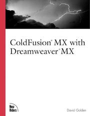 Cover of: ColdFusion MX with Dreamweaver MX | David Golden