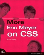 Cover of: More Eric Meyer on CSS | Eric A. Meyer