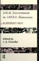 Cover of: Local Government in Liberal Democracies