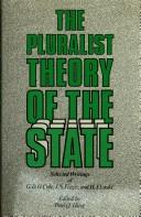 Cover of: The pluralist theory of the state