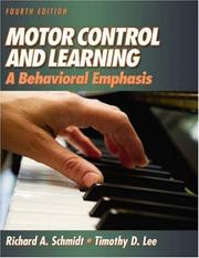 Cover of: Motor control and learning | Schmidt, Richard A.