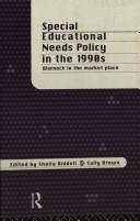 Cover of: Special educational needs policy in the 1990s |