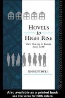 Cover of: Hovels to high rise | Anne Power