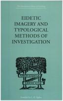 Cover of: Eidetic Imagery and Typological Methods of Investigation