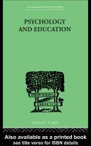 Cover of: Psychology and Education | Robert Ogden