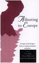 Cover of: Adjusting to Europe