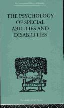 Cover of: The Psychology of Special Abilities