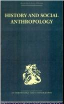 Cover of: History and Social Anthropology