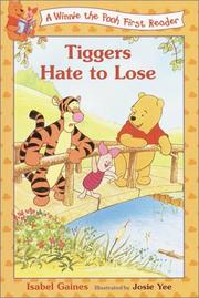 Cover of: Tiggers Hate to Lose (Disney First Readers)