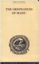 Cover of: The Ordinances of Manu