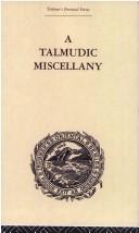 Cover of: A talmudic miscellany |