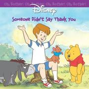 Cover of: Someone didn't say thank you