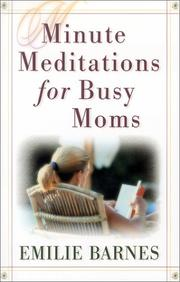 Cover of: Minute Meditations for Busy Moms