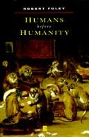 Cover of: Humans Before Humanity