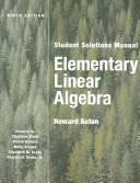 Cover of: Elementary Linear Algebra, Student Solutions Manual