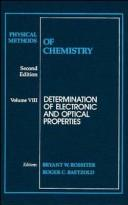 Cover of: Physical Methods of Chemistry | Bryant W. Rossiter