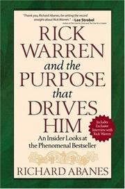Cover of: Rick Warren and the purpose that drives him