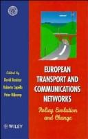 Cover of: European transport and communications networks |
