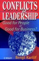 Cover of: Conflicts of leadership