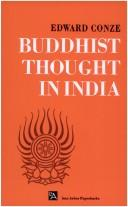 Cover of: Buddhist thought in India: three phases of Buddhist philosophy