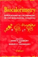 Cover of: Biocalorimetry |