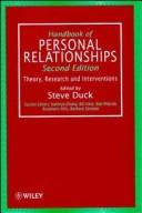 Cover of: Handbook of personal relationships |