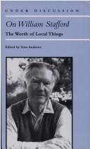 Cover of: On William Stafford | Tom Andrews