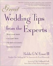 Cover of: Great Wedding Tips From The Experts  | Robbi Ernst III