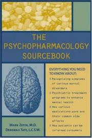 The Psychopharmacology Sourcebook