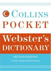 Cover of: Collins Pocket Webster's Dictionary