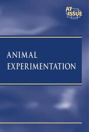 Cover of: Animal Experimentation