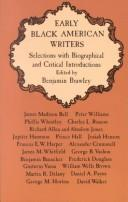 Cover of: Early Negro American writers |