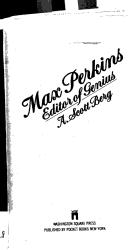 Cover of: Max Perkins