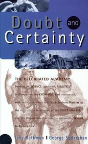 Cover of: Doubt and certainty | Tony Rothman