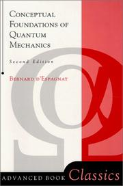 Cover of: Conceptual Foundations of Quantum Mechanics (Advanced Book Classics) | Bernard D