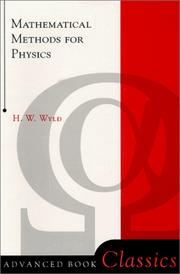 Cover of: Mathematical methods for physics