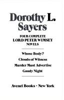 Cover of: Four complete Lord Peter Wimsey novels