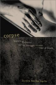 Cover of: Corpse | Jessica Snyder Sachs