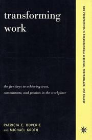 Cover of: Transforming Work | Patricia Boverie