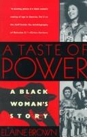Cover of: A Taste of Power - A Black Woman's Story (Black Panthers)