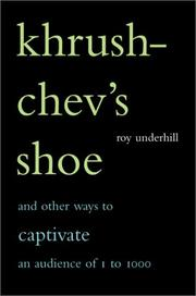 Khrushchev's shoe by Roy Underhill