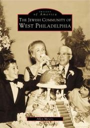 Cover of: The  Jewish  Community  of  West  Philadelphia | Allen  Meyers
